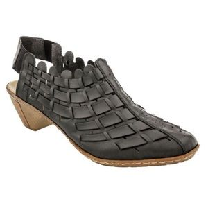 Rieker Leather Sina 78 Woven Slingback Sandals 42